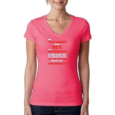 Fun Sprüche Girlie V-Neck Shirt - Vorspiel Sex Spruch by Im-Shirt -