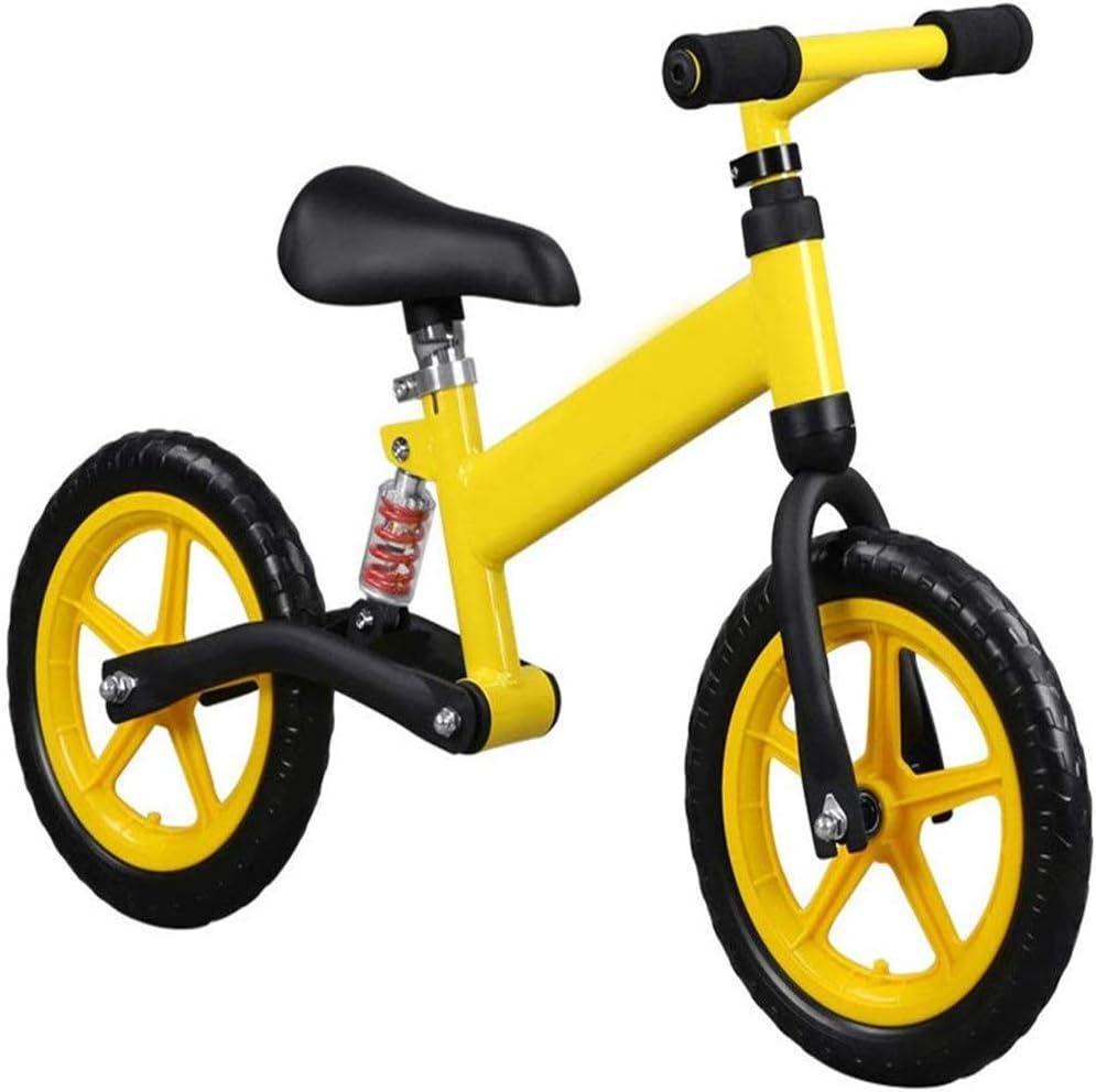 AJH Neumáticos niños Bicicleta de Equilibrio de Peso Ligero Balance de la Bici con amortiguación de Aire Libre Antideslizante Manillar sin Pedal de Empuje Que Caminan del Deporte de la Bicicleta,C
