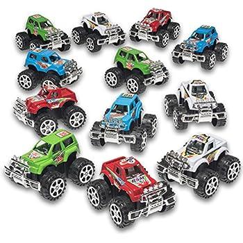 Pack of 12 Monster Pullback Trucks Stocking Stuffers