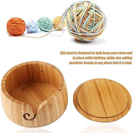 Wood Yarn Bowl Handmade Beautiful Wooden Craft 100/% Eco Friendly Home Deco SL