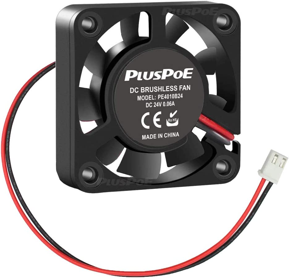 PLUSPOE 24V Brushless DC Cooling Fan 40mm x10mm Speed 6800 RPM Fans for 3D Printer Humidifier Aromatherapy and Other Small Appliances
