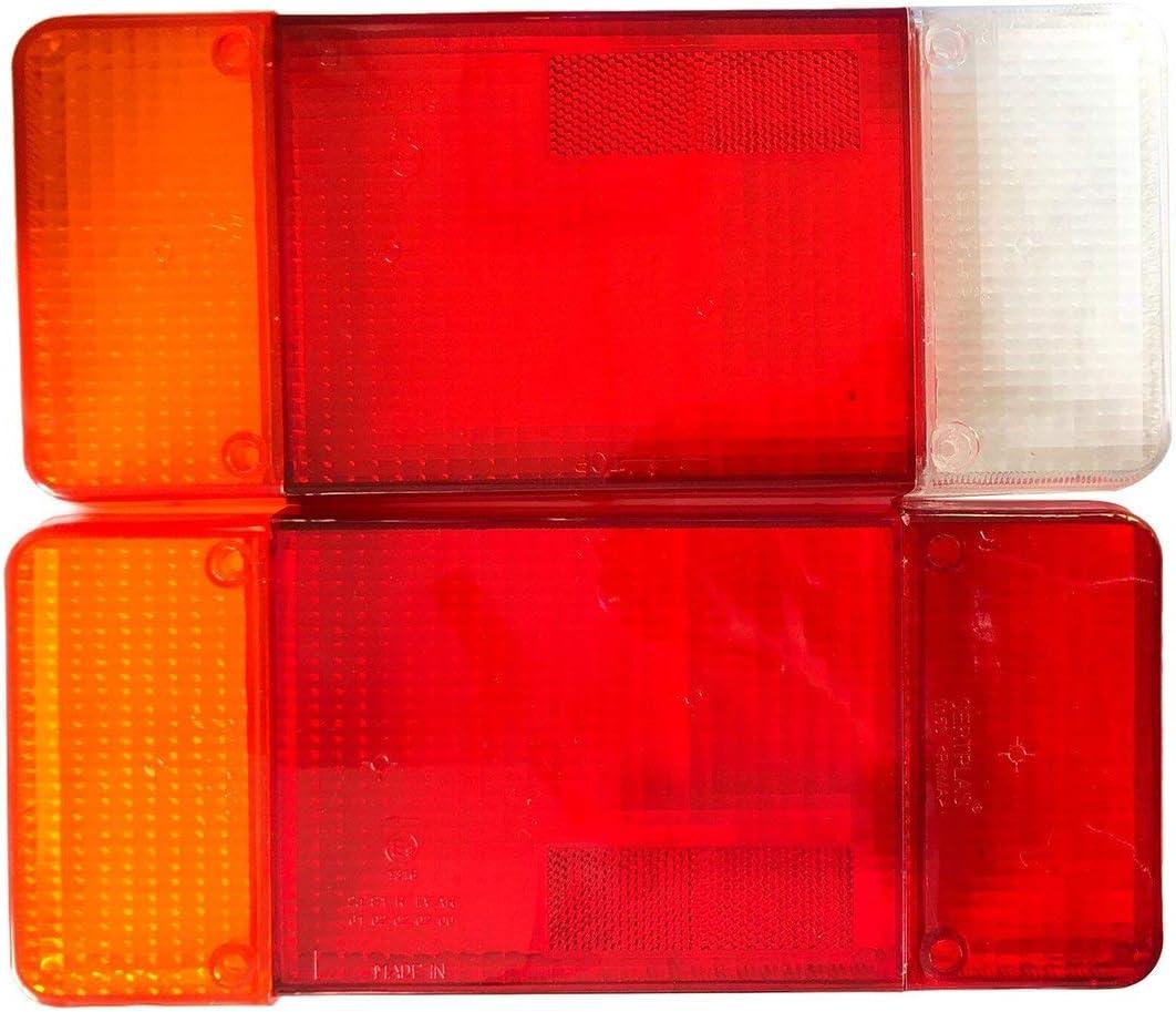 rouge Sunnyflowk une paire de pour logos Citroen Fiat Iveco DAILY EUROCARGO couvercle de bo/îtier de feu arri/ère