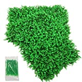 SHACOS Artificial Greenery Plant Wall 2 Pack Boxwood Hedge Panel Greenery Fence Grass Wall (2, Eucalyptus)