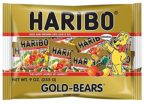 Haribo of America Gold Bears Mini Bags Halloween Candy
