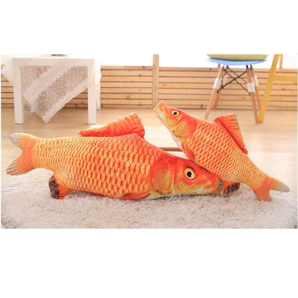 2 Bolsas Gratis de Catnip Li 3Pcs Catnip Fish Toys para Gatos Cat Wagging Fish Realistic Plush Toy Catnip Fish Mint Pet Stuffed 40cm, Hierba Carpa Dr