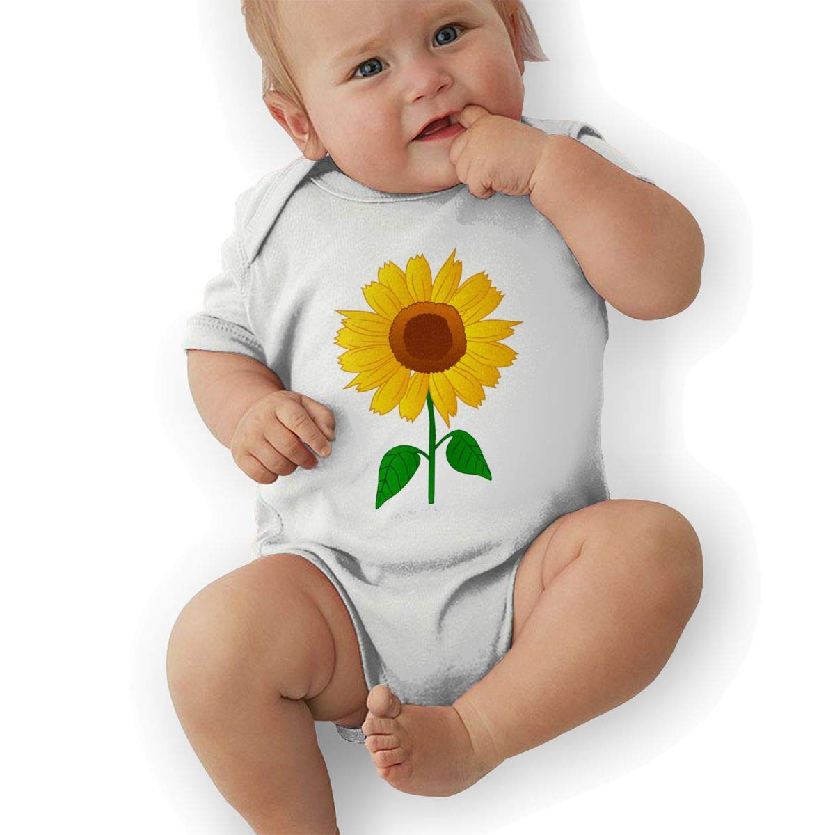 BONLOR Sunflower Clipart Baby Rompers One Piece Jumpsuits Summer Outfits Clothes White