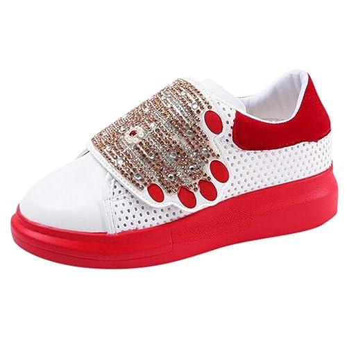 new products f0193 0c5aa iHENGH Shoes Women 2019 Nuovo Lace-Up Breathable Fashion Sneakers Pelle  Estate Scarpe Sport Pu Respirante Running per Donna Scarpa Ginnastica Moda  Casual ...