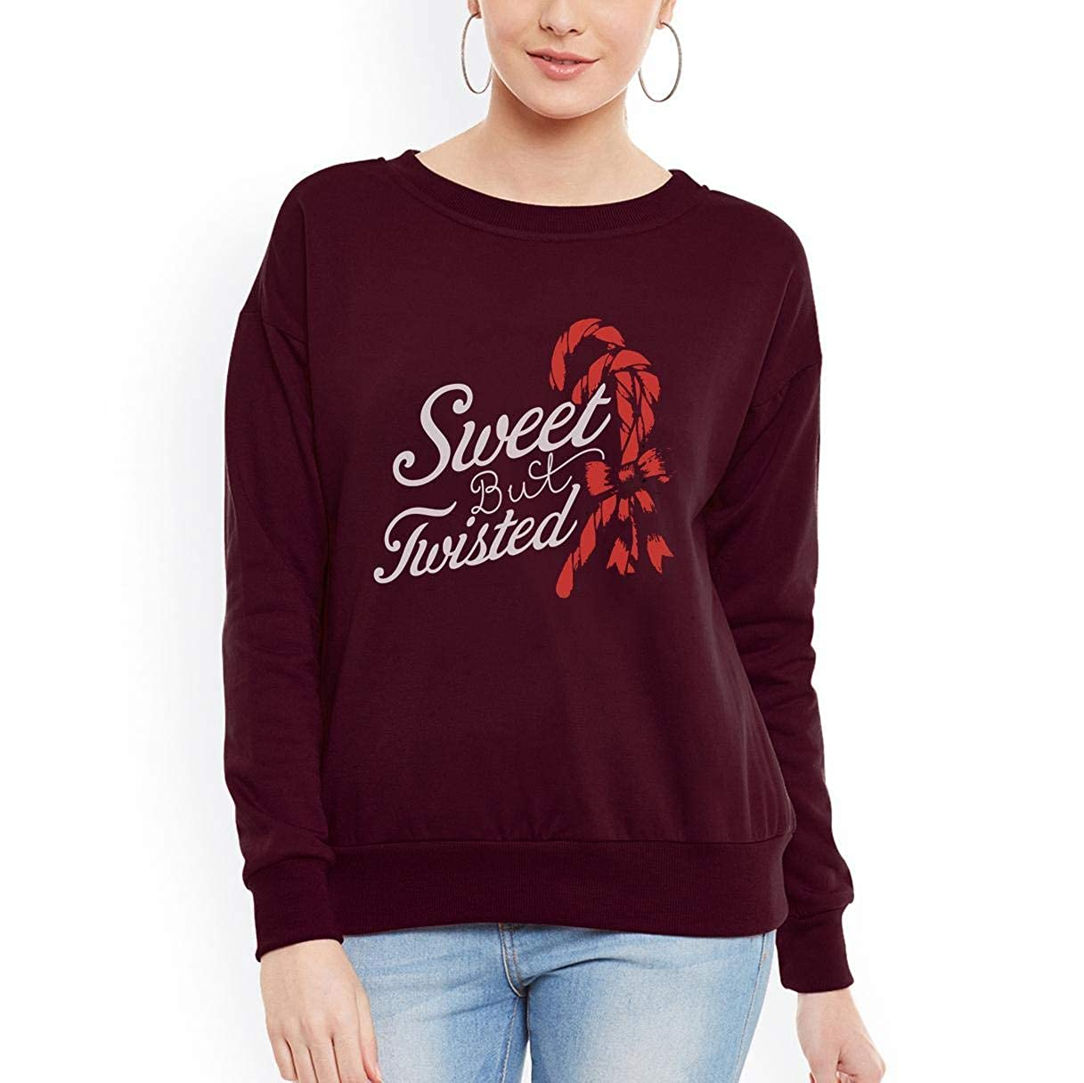 tee Sweet But Twisted Funny Candy Cane Christmas Women Sweatshirt