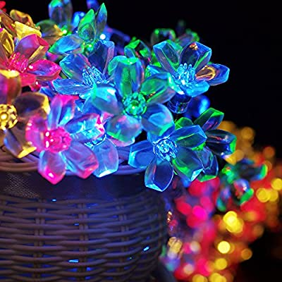 ZITRADES 3 Modes 21FT 50 Led Multi Color Blossom Solar Fairy Lights for Gardens, Homes, Christmas, Partys, Weddings