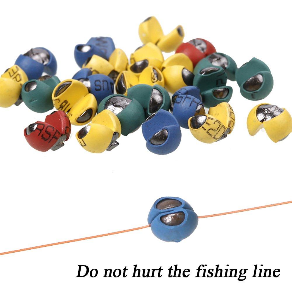 フジオカシ カラフルなゴムコーティング分割ショットガン玉セットtopind釣りリードSinkersウェイトfor Shore釣りラフトFishes100個/パック B0799J5NY3 G1-0.45g B0799J5NY3 G1-0.45g, ケーズブロス:56296fc4 --- kickit.co.ke