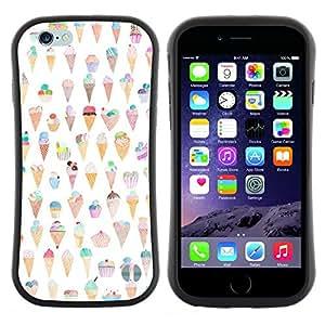 """Hypernova Slim Fit Dual Barniz Protector Caso Case Funda Para Apple (5.5 inches!!!) iPhone 6 Plus / 6S Plus ( 5.5 ) [Cono Patrón feliz divertido""""]"""