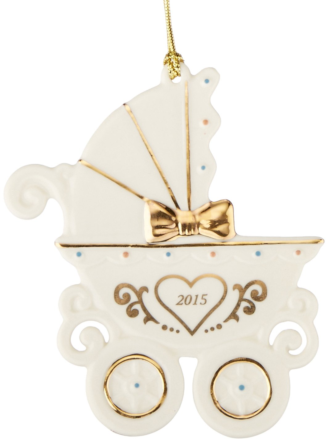 Amazoncom Lenox 2015 Babys 1st Christmas Carriage Ornament