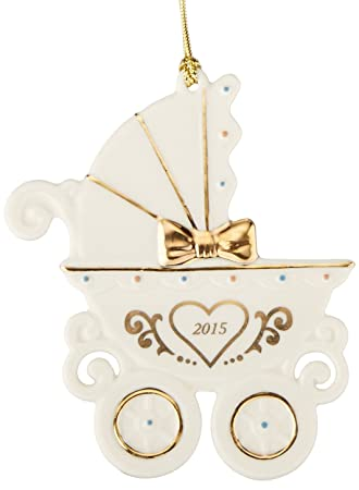 amazoncom lenox 2015 babys 1st christmas carriage ornament home kitchen