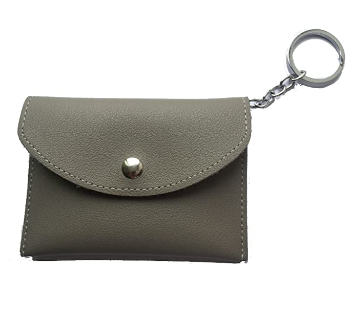 Edmen Slim Coin Purse - Elegant Women Leather Wallet Card Case Holder with  Key Ring ( 889a35f92