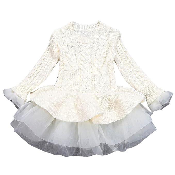 K-youth® Baratas Bebe Niños Ropa Bebe Niña Invierno Navidad Punto Manga Larga Tutú Princesa Vestido: Amazon.es: Ropa y accesorios