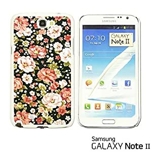OnlineBestDigital? - Flower Pattern Hardback Case for Samsung Galaxy Note 2 - Pink and White Roses