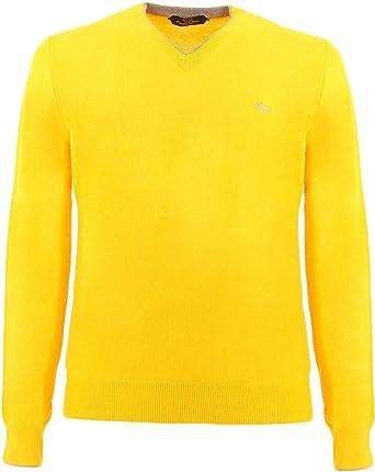 Harmont & Blaine Camisa Amarilla en V: Amazon.es: Ropa y accesorios
