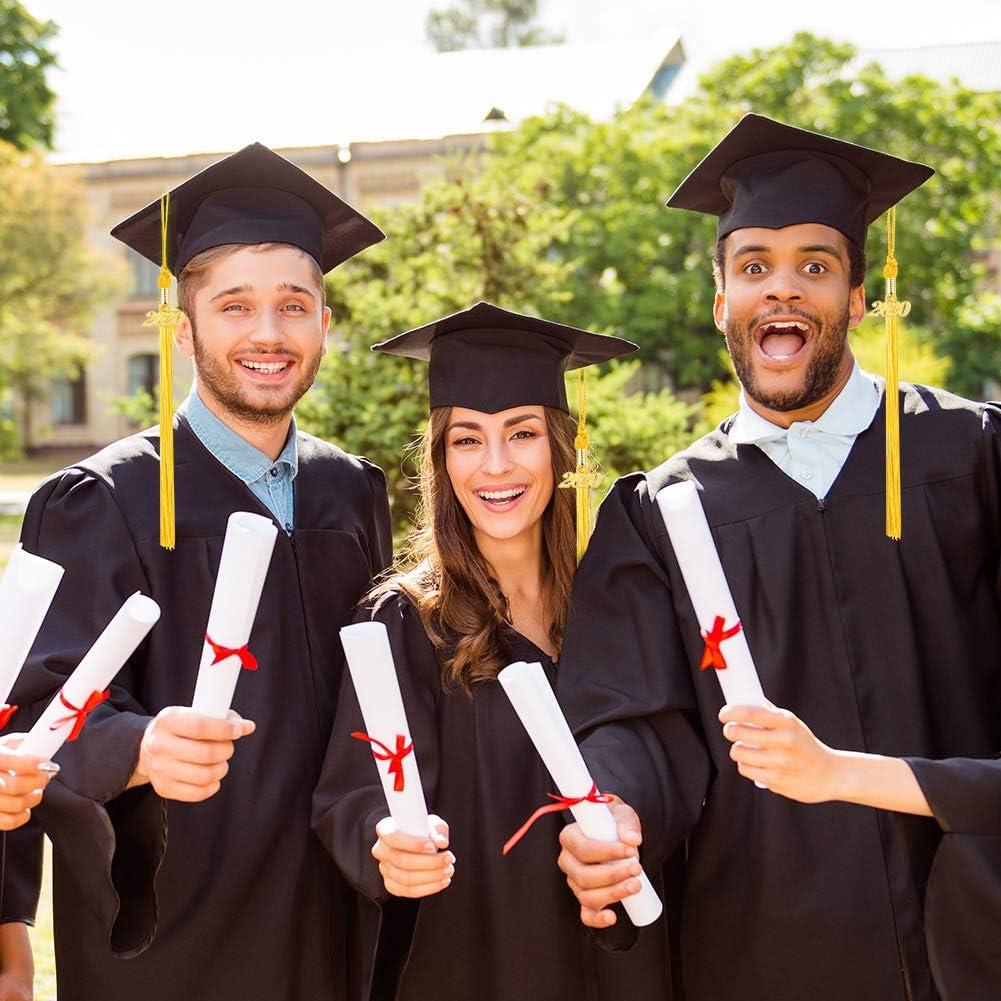 black Provone 6 Pieces Graduation Tassel Academic Graduation Tassel With 2020 Year Charm Ceremonies Decoration For Graduates