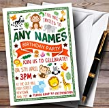 Jungle Animals Childrens Birthday Party Invitations