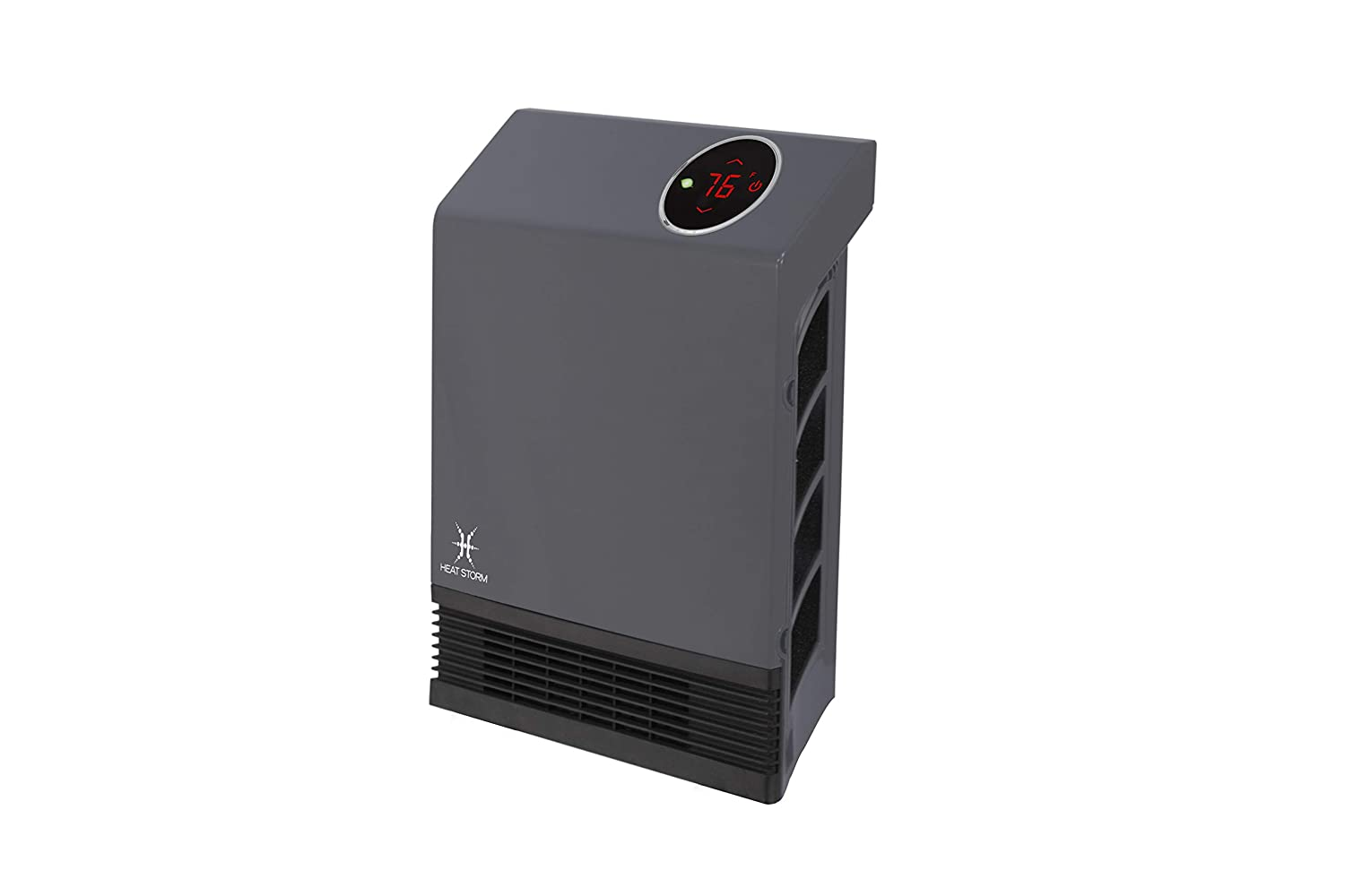 Heat Storm Wall Gray HS-1000-WX Deluxe Indoor Infrared Space Saving-1000 Watts-Remote Control-Home & Office Heater-Safe to Touch Grill