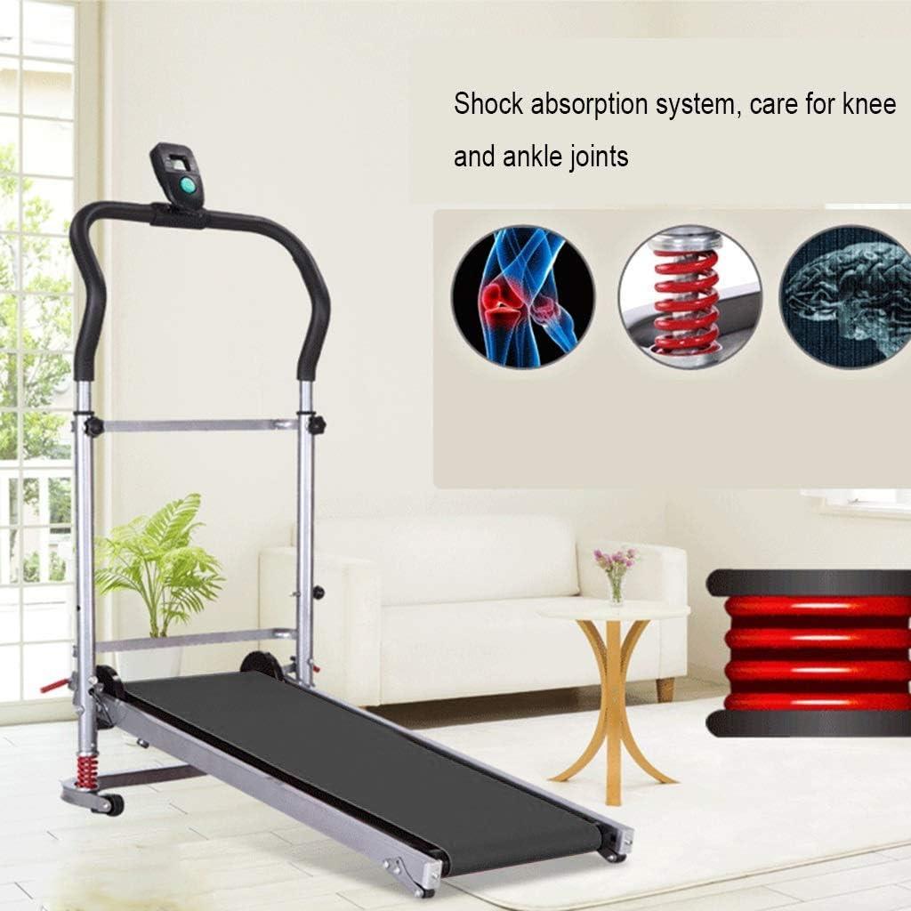 LED Display Screen Lightweight Durable Folding Manual Treadmill ...