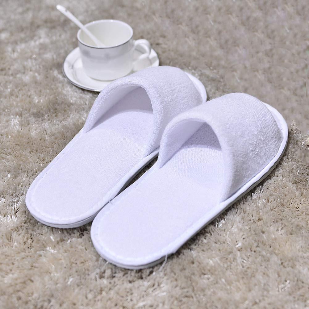 LSS Pantofole USA E Getta, Adulto Confortevole Confortevole Confortevole Antiscivolo Mezze Pantofole Travel Hotel Home Bianca | On-line  0b0bd9