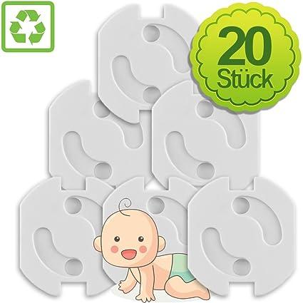 Liquidación. Enchufe de seguridad infantil para enchufes y regleta Color Blanco 20 Piezas, Corriente