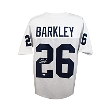 brand new f60be 5de28 Saquon Barkley Autographed Penn State Custom White Football Jersey - JSA  COA (B)