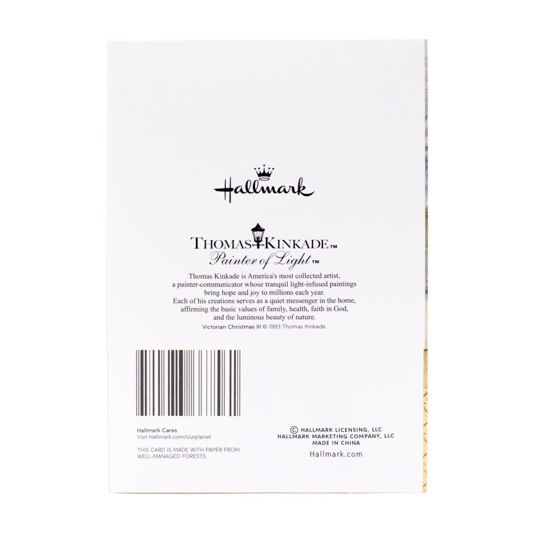 Hallmark Thomas Kinkade Christmas Boxed Cards Assortment Snowy Houses 40 With Envelopes And Foil