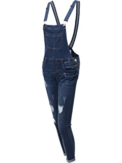 c766bf0550a Made by Emma Women s Casual Printed Pocket Lining Rolled Cuff Denim Short  Overall