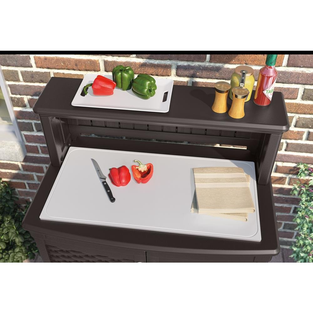 Charming Amazon.com: Suncast All Weather Construction Engineered Patio Storage And Prep  Station: Cell Phones U0026 Accessories