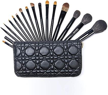 Brochas de maquillaje supersuaves con estuche para brochas, limpiador de base de maquillaje, corrector, delineador de ojos, delineador de cejas, cepillo duradero: Amazon.es: Belleza