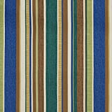 A241 Outdoor Indoor Marine Upholstery Fabric By The Meter | Various Size Stripes - Teal, Brown and Green