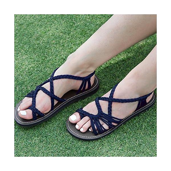 faed048f5f3 Everelax Women s Flat Sandals - Bohemian Fashion Corner