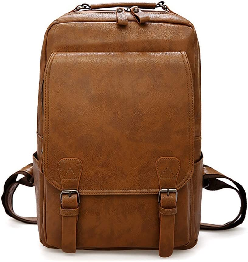 The New Backpack Male Fashion Wild Backpack Female High Capacity School Bag Travel Toiletry Bag Garment Bags for Travel, Color : Light Coffee Color, Size : Free Size