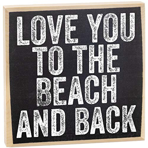 Love You to The Beach Wooden Sign - Makes a Great Gift Under $10 (Decor Beach Laguna Home Stores)