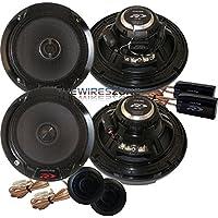 Alpine SPR-60C & SPR-60 Type R 2-Way 1260 Watt 6-1/2 Component + Coaxial Car Speaker (2 pairs)