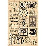 Florilèges Design FHA212085 Tampon Scrapbooking Patchwork d'Images Beige 15 x 10 x 2,5 cm