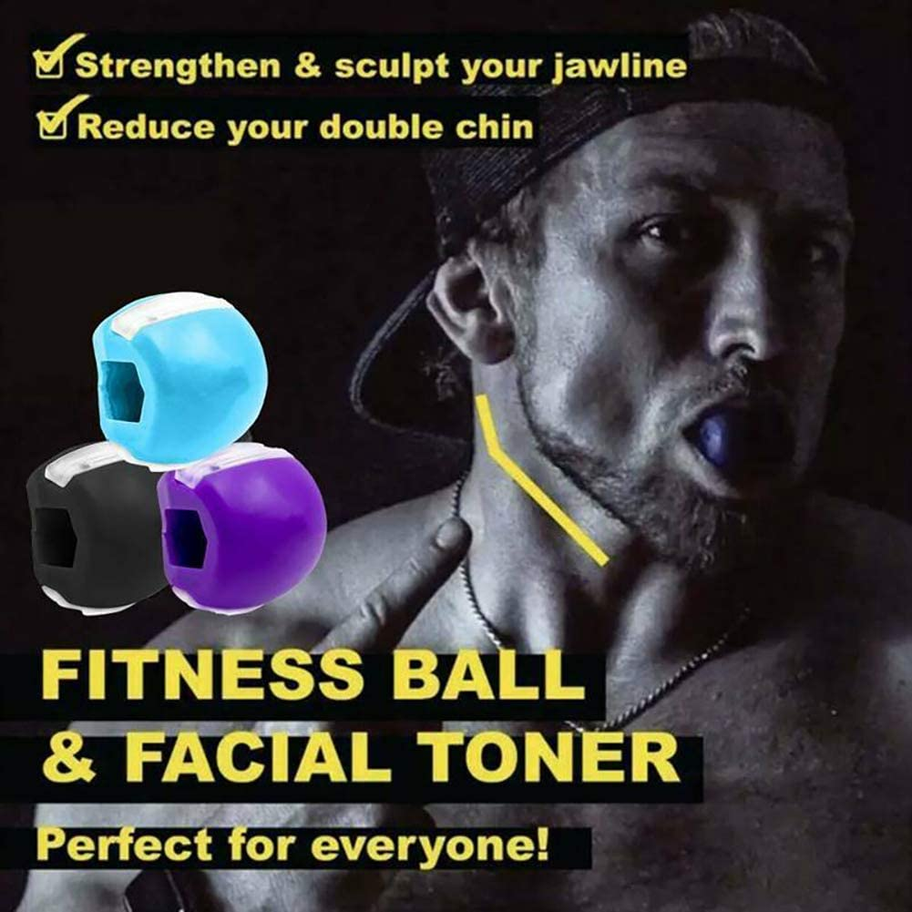 KUANDARM 3 Pack Face Fitness Ball /& Facial Toner Exerciser Ball,Jaw Exerciser Define Your Jawline,Slim and Tone Your Face,Look Younger and Healthier