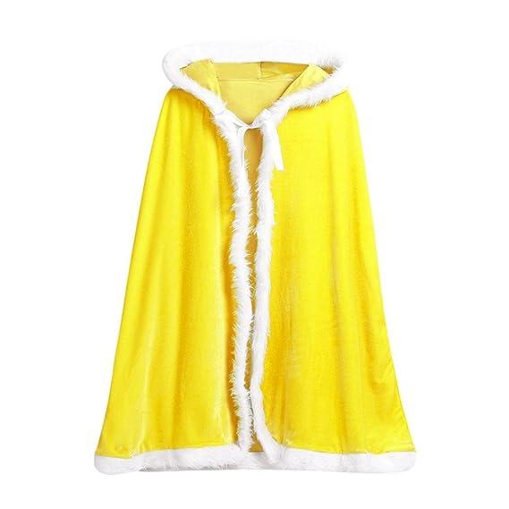 K-youth® Fiesta de Navidad Bebe Niñas Niños de Terciopelo con Capucha Capa del Cabo de Disfraces Cosplay Mascarada (Amarillo): Amazon.es: Ropa y accesorios