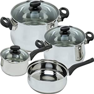 Magefesa Deliss Stainless Steel 7 Piece Cookware Set