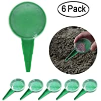 Aipaide 6 Pack Seed Sower Seed Dispenser Planter Seeder Tool with Hand Held Dial Seed Sower for Garden Flower Vegetable