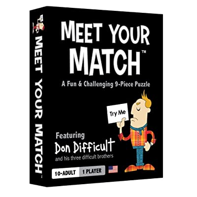Meet Your Match - The Fun & Challenging 9-Piece Puzzle/Game/Brainteaser: Toys & Games