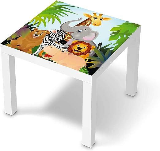 creatisto Möbel Tattoo für Kinder passend für IKEA Lack Tisch 55x55 cm I Tolle Möbelfolie für Kinder Möbel Deko I Design: Wild Animals