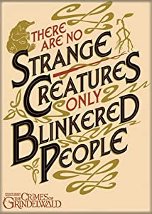 """Ata-Boy Fantastic Beasts 'Blinkered People' 2.5"""" x 3.5"""" Magnet for Refrigerators and Lockers"""