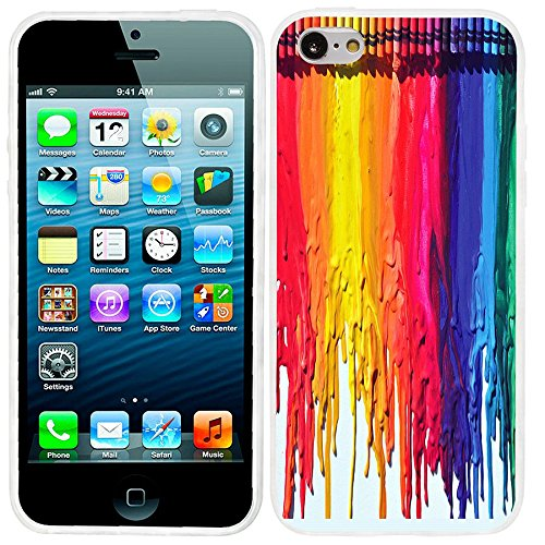 iPhone 5c case cool, iPhone 5c case cute, ChiChiC full Protective Stylish Case slim durable Soft TPU Cases Cover for iPhone 5c,colorful watercolor (Colorful Cases Iphone 5c)