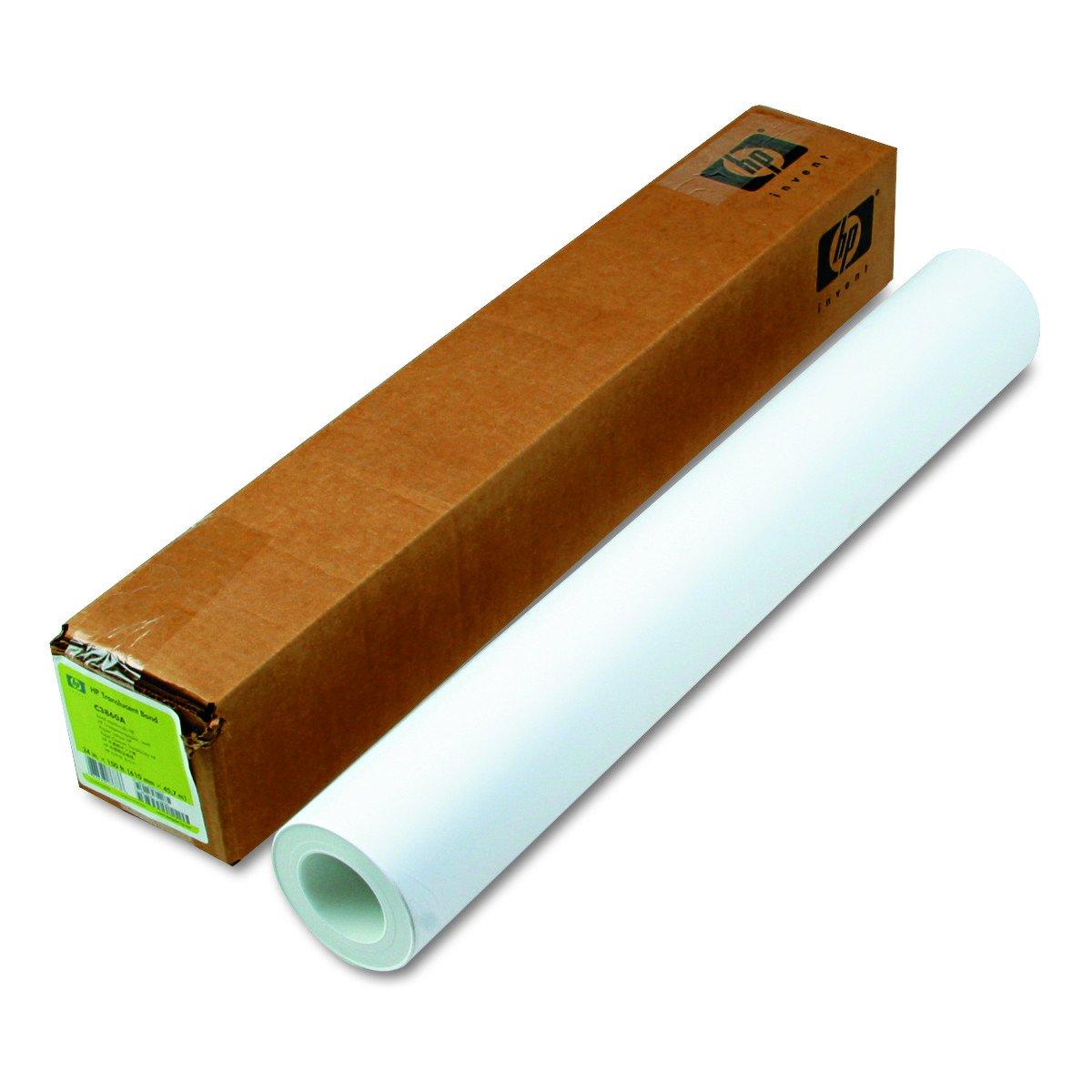 HP C3860A Designjet Inkjet Large Format Paper, 24'' x 150 ft, Translucent