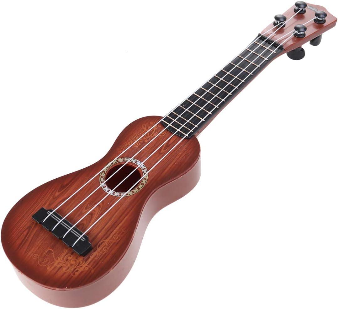 HEALLILY Niños Pequeño Ukelele Guitarra Juguete 4 Cuerdas Niño Instrumentos Musicales Juguete Mini Guitarra Juguete para Niños (Rojo)