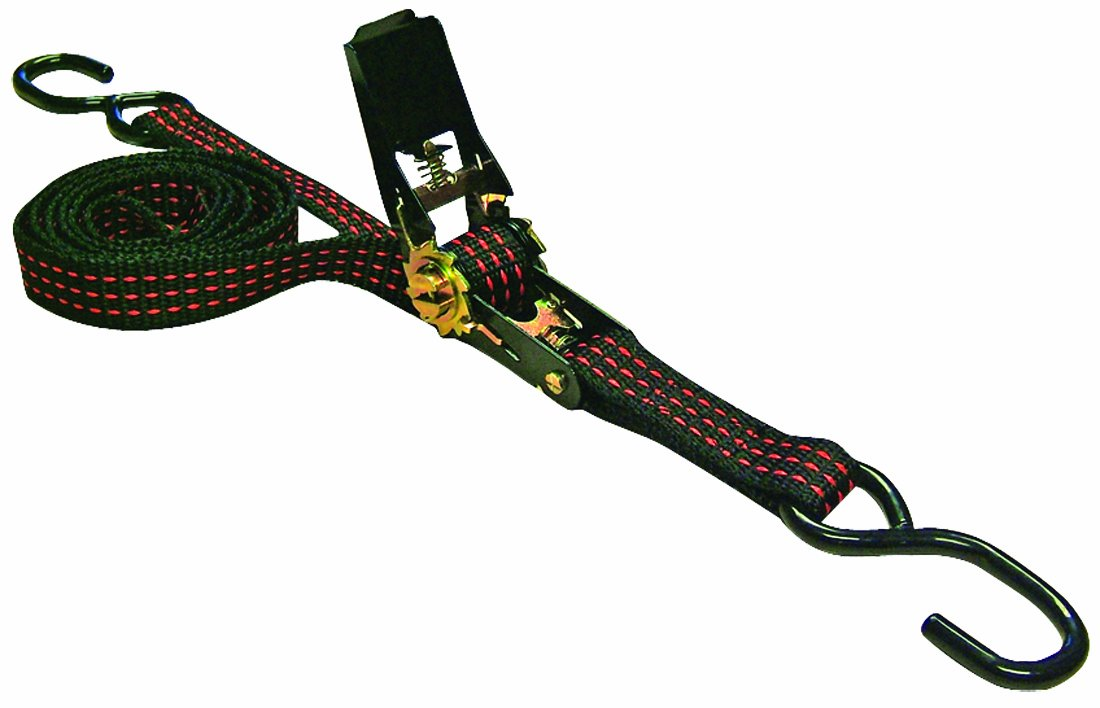 Erickson 05511 Black with Red Tracer 1 x 6 Ratcheting Tie-Down Strap, Pack of 4 EK05511