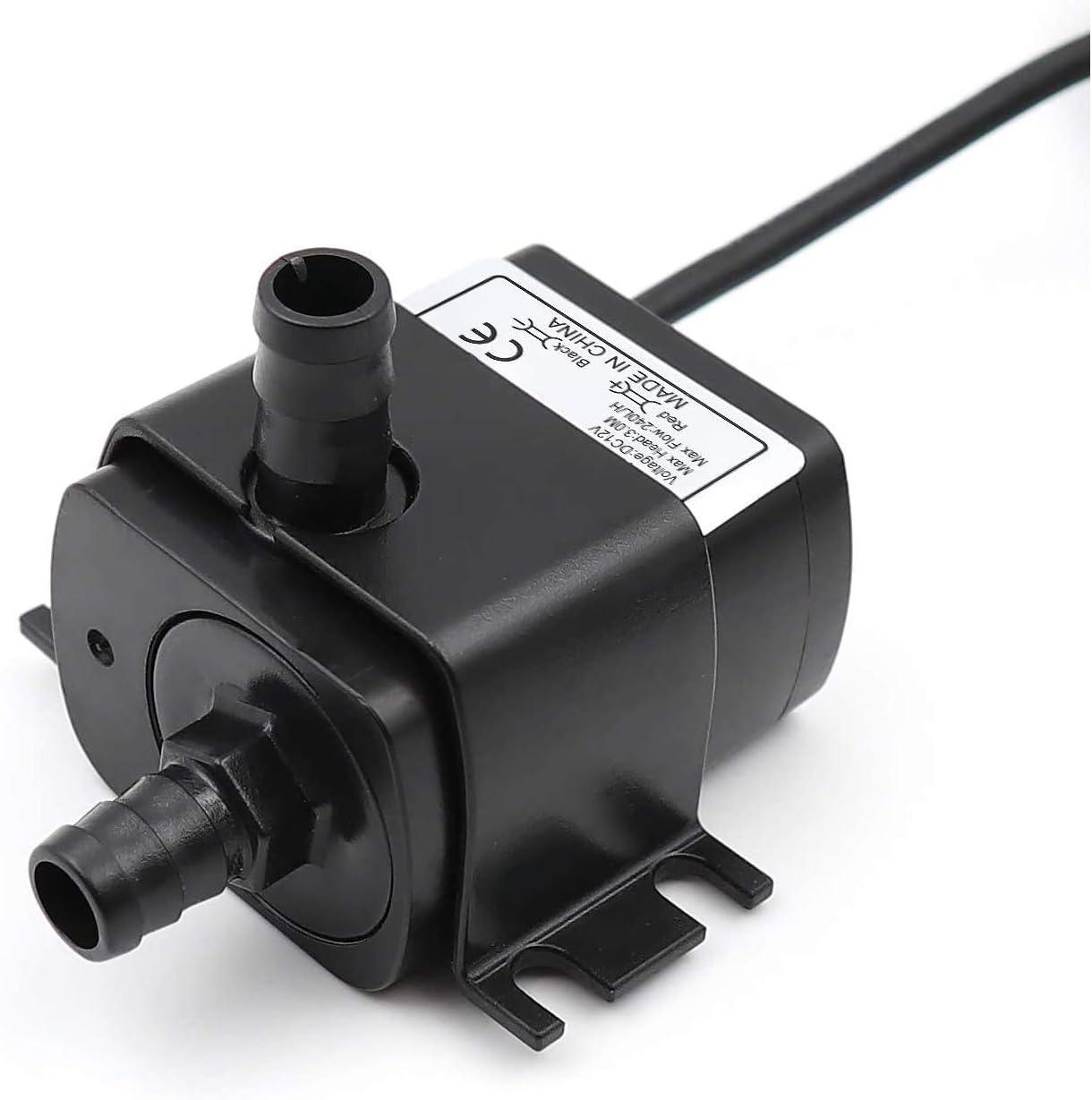 NaiCasy USB de la Bomba Mini Agua Micro sin escobillas de Agua Sumergible Bombas de refrigeraci/ón para el Acuario Fuente Garden House Horizontal Negro